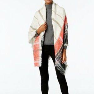Vince Camuto Plaid Square Blanket Wrap